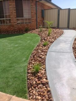 Landscaping packages to suit all budgets available natural/synthetic