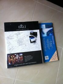 Dali painting set and canvas