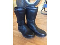 Hein Gericke leather motorcycle boots size 39 UK6.5