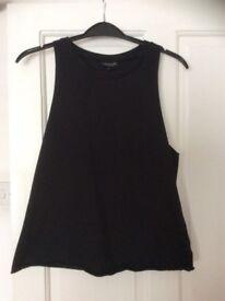 Top shop Black top Size 8
