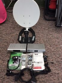 Two portable Satellite receivers (Freeview)