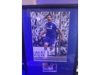 Chelsea Diego Costa framed and mounted with autograph relic card very card 33/50 by topps