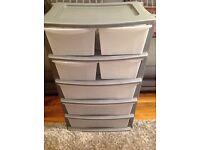 Plastic drawers storage