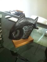 Sculpture Austin prod 1970 klara sever retro teak vintage