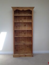 Pine tall bookcase