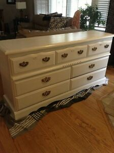 Refinished white dresser