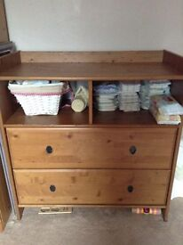 Pine chest of drawers or changing unit