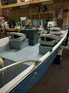 Boat, Motor, and Trailer combo - Perfect Fishing Boat!