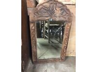 Indonesian Hand carved surround mirror