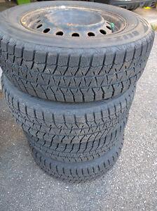 "4 Blizzak winter tires on 16"" wheels"