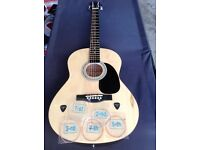 Great Value Guitar Starter Pack 39 Inch Martin Smith Acoustic Guitar Natural Wood Spare Springs...