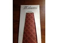 new Milano Pure Silk tie