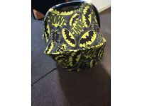 Custom batman hood for a britax car seat