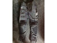 Triumph textile motorcycle trousers 30""