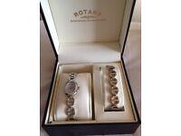 Stunning Rotary stainless steel watch & bracelet