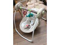 Baby rocker chair and cuddly bear gym