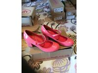 New pink patent leather shoes size 3 from Schuh .