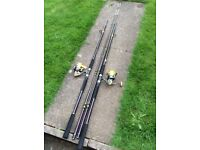 Two. Sea Fishing Rods and Reels