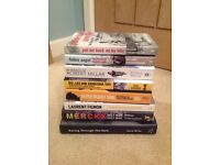Assortment of cycling books