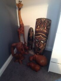 Hand made African carvings