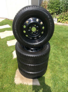 4 Snows & Rims with FREE Set Summer Tires Almost New 195/60/15
