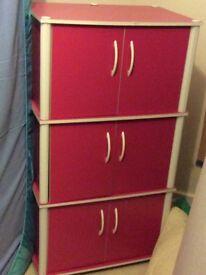 Pink Storage Cabinet