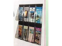 Premier Quality LITERATURE 8 Pocket DISPLAY Wall Mounted Unit - Brand New.