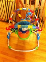 exersaucer new with  box  used  only once