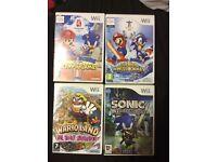 7 Assorted Nintendo Wii Games.