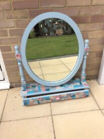 Decoupage chairs and mirror