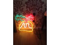 Christmas pudding rope lights