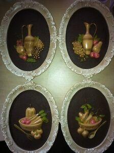 Girotti Vintage Chalkware Sculptured Art