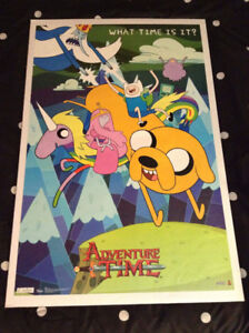 Adventure Time Poster. Excellent condition.