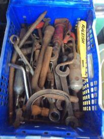 Shed clearance old tools, mechanics etc, job lot