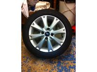 Ford fiesta zetec alloy wheel and tyre