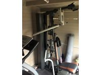 Marcy multigym York treadmill cross trainer boxing punch bag free weights