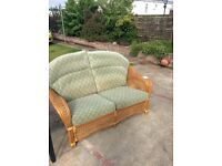 Two seater cane settee