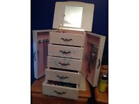 Oversized 2ft jewellery box perfect for a teenagers bedroom beautifully hand painted