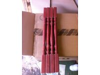 Timber spindles x4