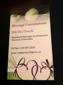Marriage/Wedding Commissioner/Officiant