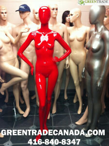 Realistic White & Black Mannequins, Dress forms