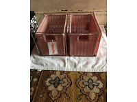 pink double CD holder good condition very pretty