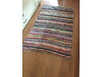 Colourful striped rug