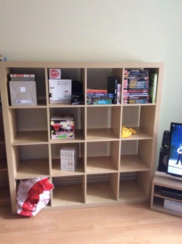 ikea expedit kallax 4x4 storage buy sale and trade ads. Black Bedroom Furniture Sets. Home Design Ideas