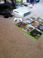 Xbox 360 with 1 controller kinect and game bundle 250$ obo