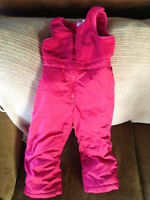 Size 3 Girl NEVER used/Like NEW Disney's pink snowsuit pants