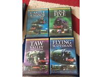 Classic Steam Train Collection x4 Dvds
