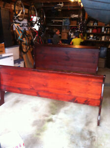 King size cherry wood bed frame