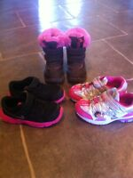 Nike sneakers and Dora sneakers size 9/10 (toddler)