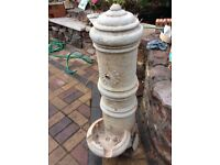 Pillar Concrete Stone WATER FOUNTAIN - Excellent Condition